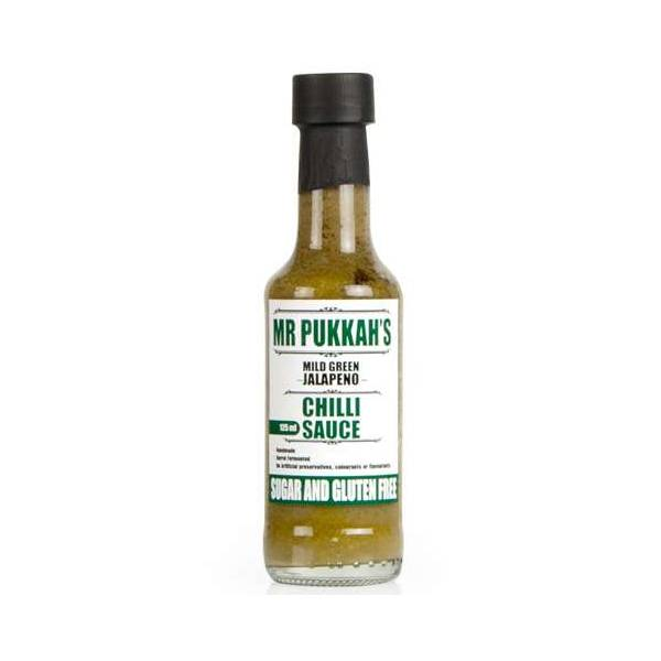 Mr Pukkah's Mild Green Jalapeno Chilli Sauce 125ml