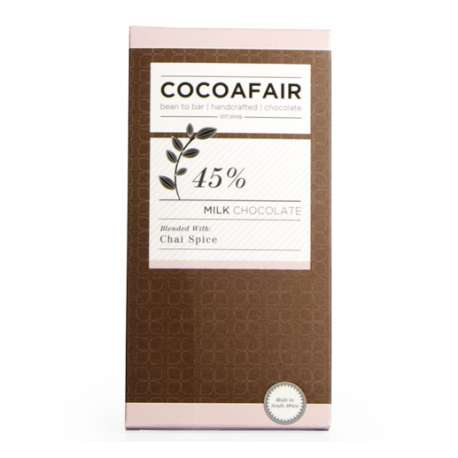 CocoaFair 45% Milk Chocolate with Chai Spice 100g